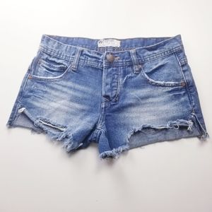Free People Distressed Short Shorts